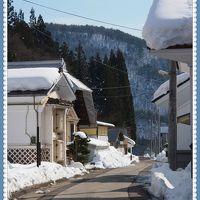 今年はまさかの・・・雪がない〜〜!!のでちょっとガッカリ気味・・・★会津絵ろうそくまつり〜ゆきほたる〜★2★喜多方郊外へ・・・田んぼの中の蔵集落、寺院仏閣など★
