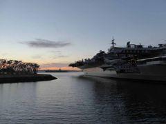 サンディエゴで船とシャチショー見学