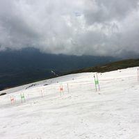 2015年6月、月山での夏スキー