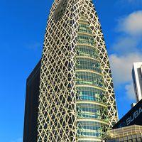 新宿2/3 新宿駅西口あたり 朝の光あびて ☆繭型タワーは斬新デザイン