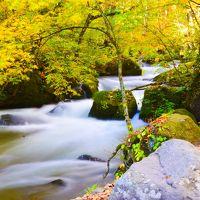 水の戯れ、紅葉ピークの奥入瀬渓流と星野リゾート・奥入瀬渓流ホテル