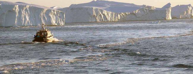 流氷と氷河見学サンセット・クルーズ