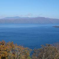 発荷峠から十和田湖を見下す。天気が良くてすばらしい眺めでした。
