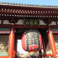 下町の商店街をめぐりながら東京スカイツリーを望む