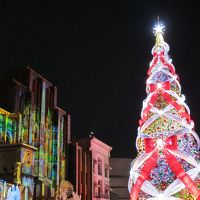 クリスマス気分♪USJ で ギネス認定 世界一の光のツリー☆。.:*・゜平日(月曜)なのに メチャ混み