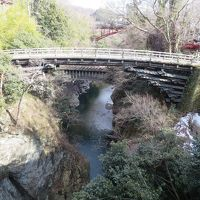週末散歩 日本三大奇矯の猿橋 お昼はほうとう 桃太郎伝説の鬼の杖 月カフェでお茶