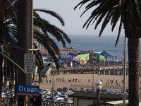 """北米西海岸のサンタモニカビーチとサンディエゴのパシフィックビーチを""""どうでしょう""""みたいにブラ歩きの旅。その1;まずは成田からロスに飛び、空港からはわき目も振らずサンタモニカビーチに直行の巻。"""
