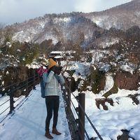 桜子蘭子の「クラブツーリズムで行く雪景色の白川郷&飛騨高山と妻籠宿バスツアー」