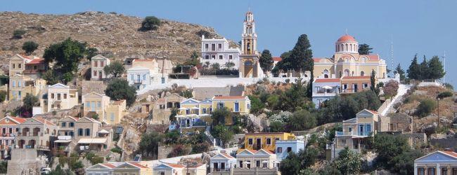 2017年 ギリシア旅行 ロードス島から高...