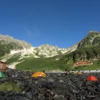 涸沢でテント泊と安曇野観光。