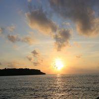 写真で伝える今年3回目の沖縄2日目・・・朝食バイキング〜虹〜ホテル散策〜名護で夕陽〜ステーキハウスjam〜月夜