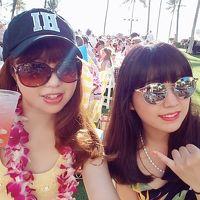 """32-2(9-12)★楽園のハワイに全員集合(*^^*)�♪雑誌やTVで紹介されたビーチ&グルメ巡り『☆オアフ西回り編』♪お誕生日は""""Noe""""で"""