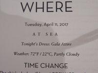 2前泊Fort Lauderdale+24 泊Konigsdam , ★21★Monday, Tuesday, April 11At Sea
