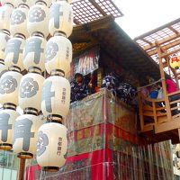 フィンランドの友人と奈良・京都へ4-祇園祭前祭宵山へ,月鉾にのぼる,混雑でまいった.