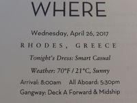 29  泊Konigsdam , ★9★Wednesday, April 26Rhodes, Greece