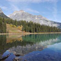 個人で行く秋のカナダ周遊 3.ヨーホー国立公園とモレーン湖+マーブル渓谷散策