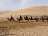 国慶節の敦煌 莫高窟と鳴砂山砂漠