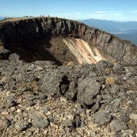 爆裂火口、硫黄岳。