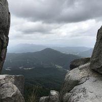 台風で午前中は飛行機が飛ばないので大宰府に行って宝満山に登ってみた=2017年10月