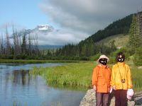 2009年カナディアンロッキー旅行�バンフ周辺で乗馬、ラフティング、散歩とサルファー山ゴンドラ登山