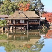 彦根-4 玄宮園(旧大名庭園/特別史跡)・紅葉のとき ☆池を巡って楽しむ変化