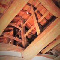 彦根-6 彦根城(国宝)天守内部を参観 ☆木造伝統構造/急角度な階段