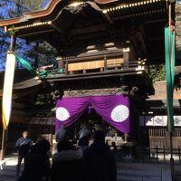 初詣に家族で諏訪大社に。富士山も見える御柱も。
