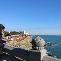 寒波襲来! 釜山で震える!�海雲台、龍宮寺