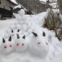 雪の大内宿と芦ノ牧温泉