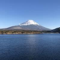富士五湖観光。生きているうちに、こんな美しい富士山を見れて感動!!(2018年2月)