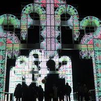 蒲郡-6 ラグナシアe  「ネージュ」360°3Dマッピング ☆全周立体映像は大迫力