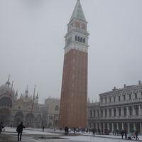 大雪のベニス。幸運というべきか,不運というべきか。
