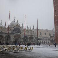 サン・マルコ広場は雪で埋まっていた。