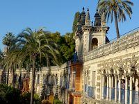 2017.12アンダルシアドライブ旅行20-アルカサル3 マーキュリーの庭,グルテスコの回廊,カルロス5世のあずまやなど庭をめぐる