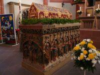 2010年ドイツの秋:�パトカーに途中まで先導してもらったザンクト・ヴェンデルにはザールラントで最も美しい教会がある。