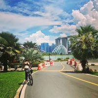 シンガポールでサイクリング イーストコーストパークからガーデンズバイザベイへ!
