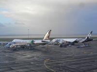 再び!UA特典航空券でクック諸島ラロトンガへ�NZニュージーランド航空B787エコノミークラスでオークランド⇒ラロトンガ・新しくなったAKLのNZラウンジを体験