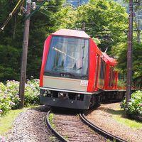 箱根あじさい電車はちょっと早かった♪(でも写真の勉強も兼ねて♪)