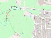 フィロパポスの丘へのルートマップ
