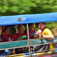 2018 タイの水かけ祭り ソンクラーン《リトルワールド》