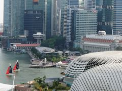 また来たぜ、今度はマリーナマンダリン♪シティビューだけどマーライオンも 懲りずにシンガポール2018年9月の旅1-1