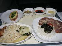 年末年始アテネとその近郊の旅 その8 エアチャイナ(中国国際航空)ビジネスクラスで史上最大に美味しくない機内食が…(T_T)