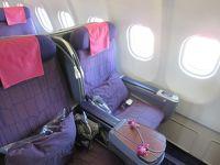 タイ国際航空 ビジネスクラス バンコクからマスカット