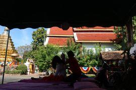 チェンマイの休日�お寺でマッサージ