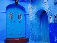 雨模様…でも青が映えてかわいい街、シャウエン旅