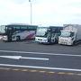 ●海部観光バス@室津PA  取り敢えず、友人と待ち合わせのJR徳島駅へ。 何度かお世話になってる海部観光のバスでJR大阪駅から移動しました。