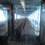 ●JR瀬戸大橋線@快速マリンライナーから  ただいま、瀬戸大橋通過中。 一番後ろの補助席で、見学中。  18切符が残ったので、大阪から徳島までJRで移動しました。 大阪徳島間は、バスや和歌山港経由の電車+船が安いので、JR移動の人、誰もいないと思う…。