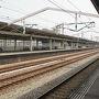 ●新幹線ホーム@JR相生駅  猛スピードで走り去っていく新幹線を目撃したい! ドキドキ待ちます。