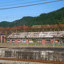 すっかり雲海のなくなった竹田城跡から竹田駅まで下り、再び播但線に一駅乗れば和田山。駅に着く直前にレンガ造りの廃墟のようなものが見えましたけれどもこれは何でしょうかね。歴史的に価値が有るのなら竹田城跡と合わせて整備して観光で売りだしても良いかも?