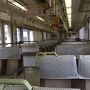 ●車内@普通電車JR園部駅行き  JR嵯峨野線に乗車中です。 JR亀岡駅を過ぎると、同じ車両にはポツポツ…程度な人でした。